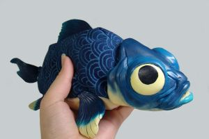 OOAK Little Blue 3 by WithPencilInHand