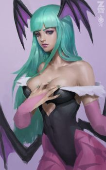 Morrigan Painting 1 by Zeronis
