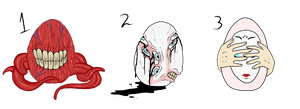 Horror/Monster Pony Eggs - SOLD by ShadowInkAdopts