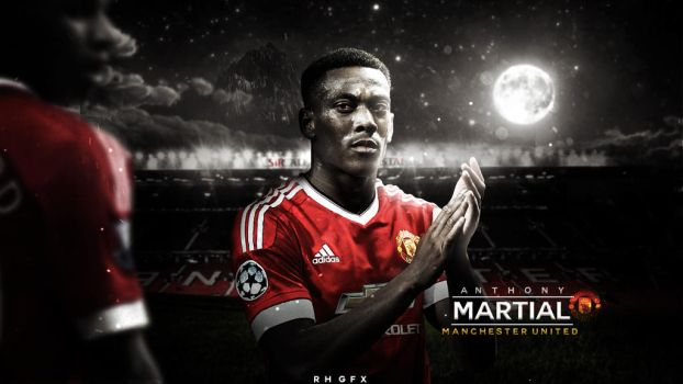Anthony Martial 2016 HD Wallpaper. by RHGFX2