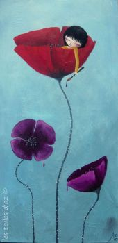 Painted poppies by lestoilesdaz
