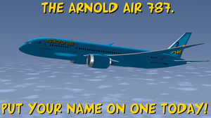 Arnold Air 787 postcard by dev-catscratch