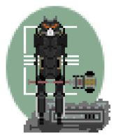 Pixel wasters-enclave soldier by Polygon-Eyes