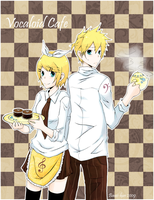 Kagamine- Vocaloid Cafe by baozi-kun