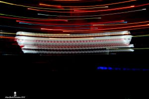 Light streaks from a set up by CZProductions
