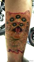 Crazy Cat by sass-tattoo