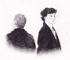 Sherlock and John by LadyRoxanne7