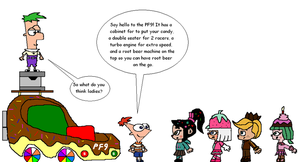 Phineas, Ferb, and Sugar Rush Racers by RocketSonic