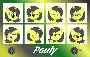 MLP OC Expressions : Pauly by outlaw4rc