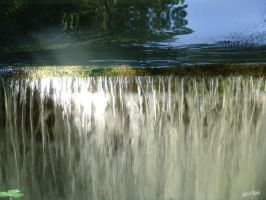 Isarauen - waterfall by gameover2009