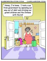 Behaving Like Government cartoon by Conservatoons
