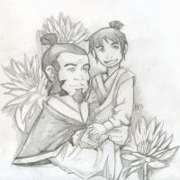 Iroh and Luten Shaded by Greywolven