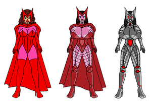 Scarlet Witch robot design by Nickcmox by singory