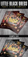 Little Black Dress Party Flyer Template by AnotherBcreation