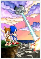 Sonic V Cover Issue 16 by metara