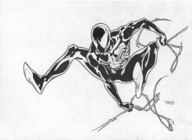Spiderman inks by JosephLSilver