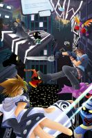 Kingdom Hearts - Final Fight by suzuran