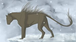 Beast of the Snow by AHundredWingedWishes