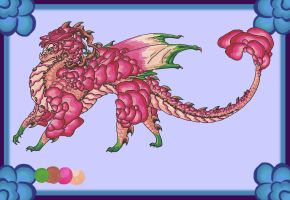 Rose Garden Dragon Adopt Auction (CLOSED) by LostSoul235