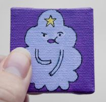Adventure Time Lumpy Space Princess mini painting by LunaAshley