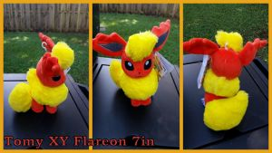 Tomy XY Flareon 7in by Vesperwolfy87