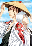 Collaboration Bleach: Kyoraku and Ukitake by AR-UA