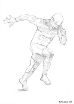 Some realistic drawing of a runner by TomLoux