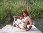 Red Sonja Relaxed by Swamp by aichan25