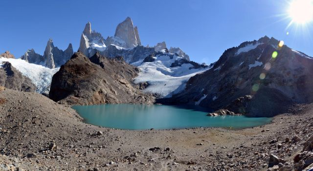 Fitz Roy and Laguna de Los Tres Panorama by ironmanbr