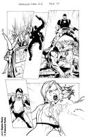 Harbinger Wars 1 pg. 12 - pencils by Clayton Henry by cesca-specs