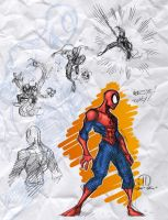 Spidey toony sketches by JoeyVazquez
