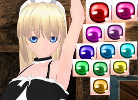 MMD Semi real and cute eye texture by amiamy111