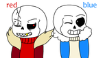 Red And Blue sans(pc) by Ranting-Rhino