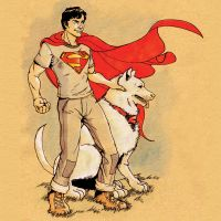 Superman and Best Friend by Montreuil