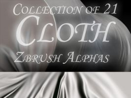 21 Cloth Zbrush Alphas by bongistka