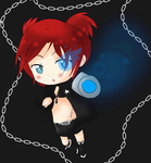 Chibi me as BLACK ROCK SHOOTER by Sfrey4138