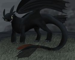 Toothless by Aulinn