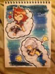 Sora + Riku - Dreaming... by lollypop071