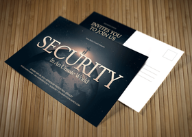 Security Church Postcard Template by loswl