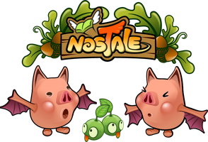 Nostale BatPigs and Piis by teezkut
