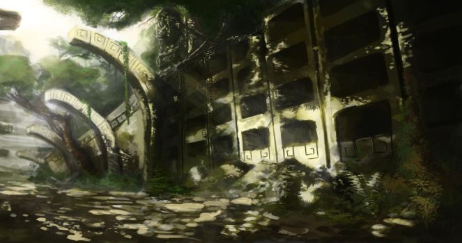 Ruins of tombs-Temple of serpent eternity-view1# by Renox123