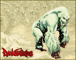 Sasquatch and the snow peeps by tonytorrid
