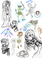 A sketch dump of sorts... by Ana-The-Unknown