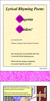 Lyrical Rhyming Poem: Magenta Maiden! (Pgs. 00-09) by AnimeFan188