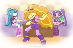 Weekly art#4 The dazzlings by HowXu