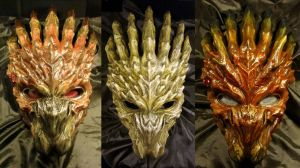 Tri Color Dragon Bio Helmet by Uratz-Studios