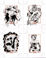 Marvel Bronze Age Sketchcards 1 by ElfSong-Mat