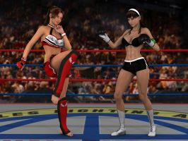 Anne vs Lilly 0 OCWT RED RND 2 by PhoenixCreed