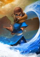 The Last Waterbender by charlestanart