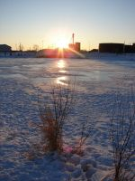 Sunset Ice Age Pond 1 by FantasyStock
